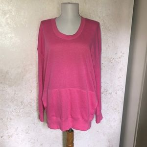 Zella Pink Long Sleeve Sweatshirt w/ Pocket
